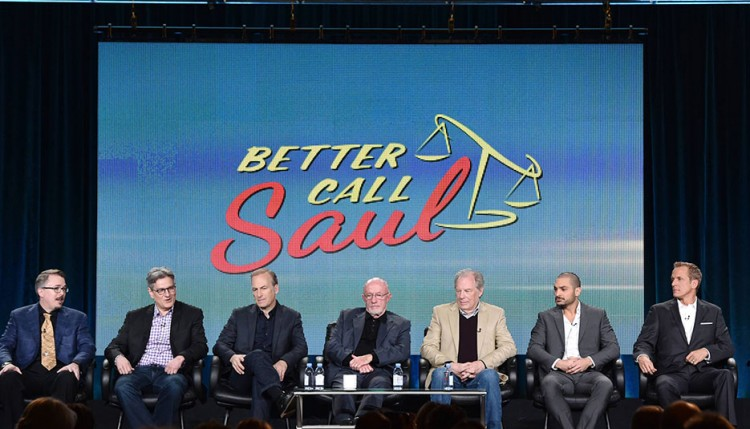 Vince Gilligan, Peter Gould, Bob Odenkirk, Jonathan Banks, Michael McKean, Michael Mando, Patrick Fabian