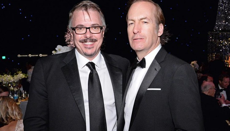 Vince Gilligan & Bob Odenkirk at Emmy's 2015
